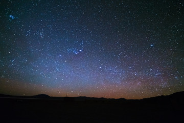 Stars and airglow on the Andean highlands in Bolivia, South America.