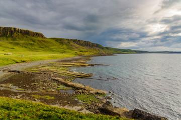 Peaceful scottish rural landscape