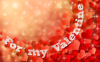 An abstract illustration for valentines day. Background with hearts illustration.