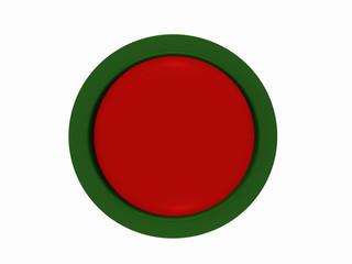 runder Button in rot-grün auf weiß isoliert.