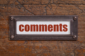 comments tag - file cabinet label