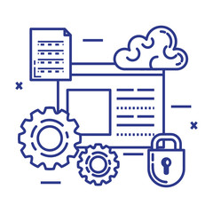 security system technology icons vector illustration design