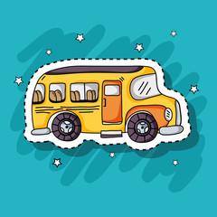 school bus transportation patches design