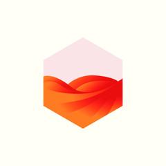 Desert Logo Template. Desert Logotype Isolated. Desert Vector Illustration.