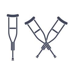 Crutches vector icon
