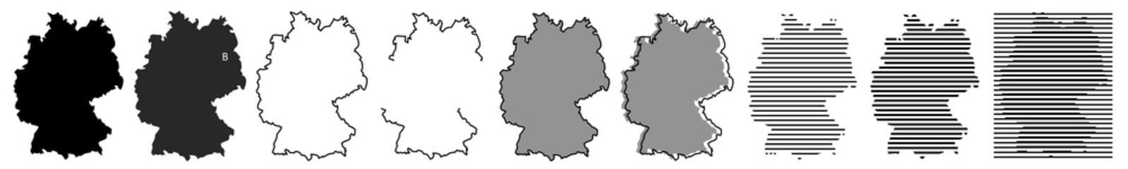 Deutschland | Karte | Variationen