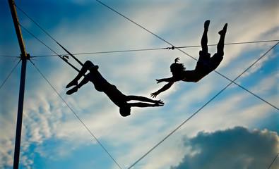 circus artist trapeze men Wall mural