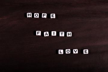 Words Faith Hope Love