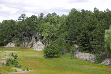 Landschaft mit Felsen in der Nähe von Creel, Mexiko