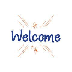 Welcome Vector Template Design