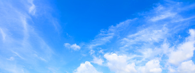 Panorama blue sky beautiful colorful landscape art of nature beautiful beautiful background with copy space add text
