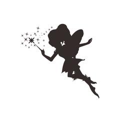 Fairy silhouette, Vector illustration