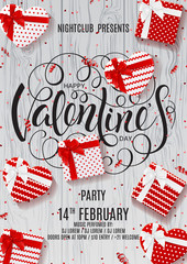 Festive Flyer for Happy Valentine's Day Party