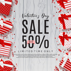 Promo Backdrop for Valentine's Day Sale