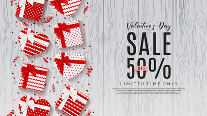 Valentine's Day Sale Promo Web Banner