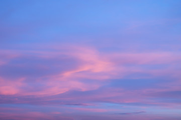 Abstract blurry pink and purple sky