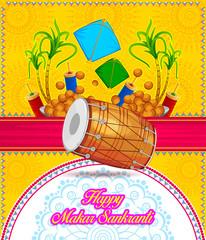 illustration of happy makar sankranti