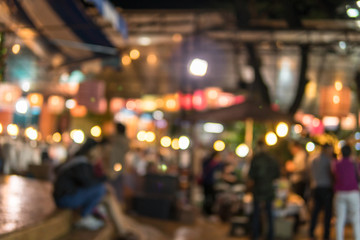 Image of shopping place with light blurred bokeh abstract background.