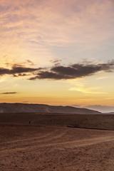 Vertical photo morning in negev desert in Israel