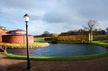 Park outside of Citadelle in Landskrona Sweden
