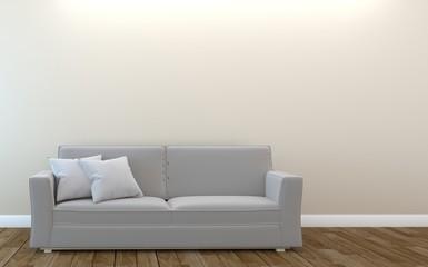 Modern Living room interior in elegant style. 3D rendering