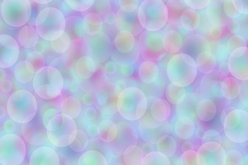 blurry background with soap bubbles