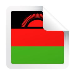 Malawi Flag Vector Square Corner Paper Icon