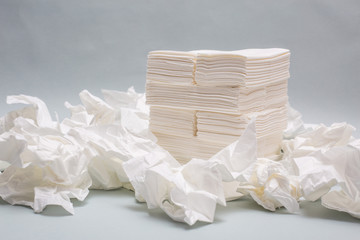 tissue paper white isolated