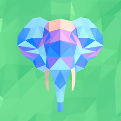 Elephant mosaic abstract