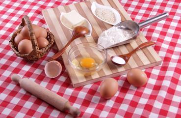 Fresh dough ingredients