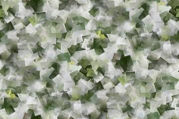 Mosaik, Hintergrund in grün und weiß