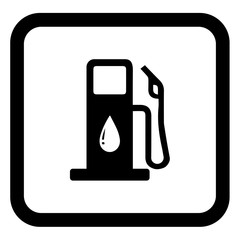 Black Petrol pump vector on white background