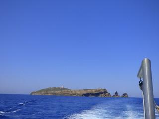 Las islas Columbretes al este de Oropesa, integradas en el término municipal de Castellón de la Plana (Comunidad Valenciana, España)