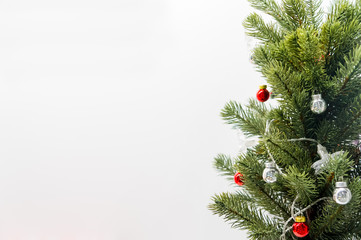 Simple Christmas decoration. Isolated background.