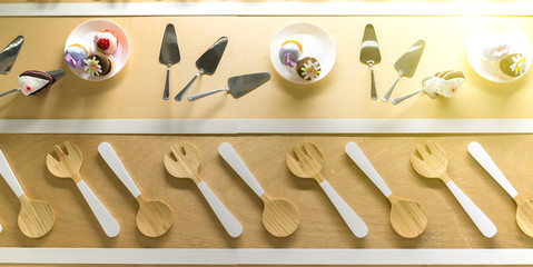 Simple home kitchen modern and stylish decoration. Elegant, modern, simple setting.