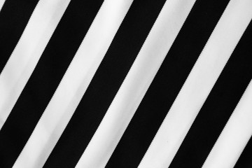 Black and white diagonal striped fabric