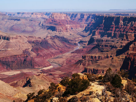 The Grand Canyon seen from the South Rim in Arizona, part of the American Southwest