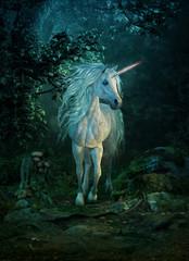 mythical unicorn, 3d CG