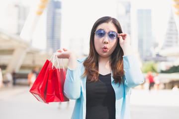 business woman shopping