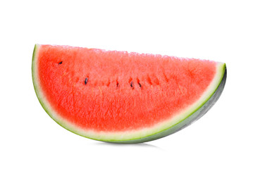 sliced red watermelon isolated on white background