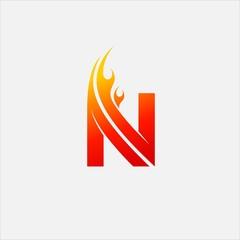 Letter N Fire