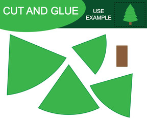 Cut and glue to create Christmas tree.