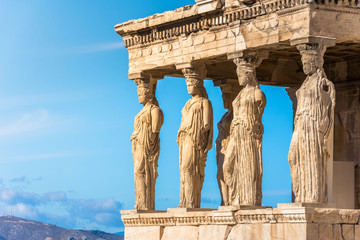 Wall Mural - Karyatides statues, Erehtheio, on the Acropolis in Athens, Greece