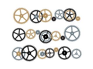 いろいろな歯車の組み合わせ