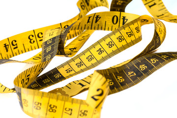yellow measuring tape.
