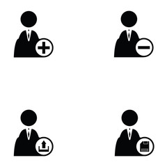 business man icon set