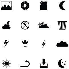camera function icon set