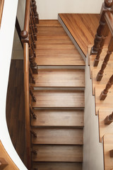 Photo sur Aluminium Escalier wooden stairs