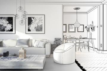Ramgestaltung: Apartment (Skizze)