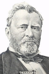 Ulysses Grant portrait on a white background